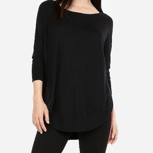 Express extreme circle hem sweater